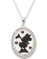 Disney - Minnie Mouse 'i Choose To Be Inspiring' Pendant Necklace - Lyst