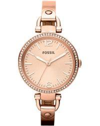 Fossil - 'georgia' Crystal Bezel Watch - Lyst