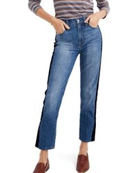Madewell - The Perfect Vintage Velvet Tux Stripe Jeans - Lyst