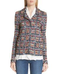 St. John - Painterly Multi Tweed Knit Jacket - Lyst