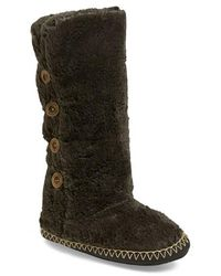 Bedroom Athletics - Grace Tall Faux-Fur Slipper Boot - Lyst