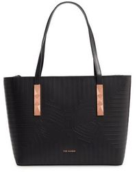 Ted Baker - Bow Embossed Leather Shopper - Lyst