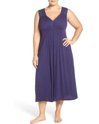 Oscar de la Renta - Ruched Nightgown - Lyst
