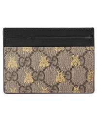 Gucci - Linea Bee Gg Card Case - Lyst