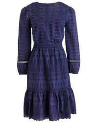 J.Crew | J.crew Long Sleeve Embroidered Dress | Lyst