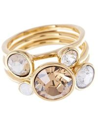 Ted Baker - 'jackie' Crystal Stacking Rings (set Of 3) - Lyst