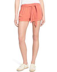 Hinge - Tie Waist Pull-on Shorts - Lyst