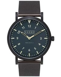 Shore Projects - 'morecambe' Mesh Strap Watch - Lyst