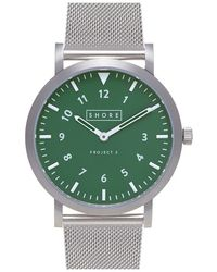 Shore Projects - 'anglesey' Mesh Strap Watch - Lyst