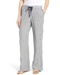 Caslon - Caslon Drawstring Linen Pants - Lyst