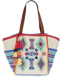 Steven by Steve Madden - Embroidered Pompom Tote - Lyst