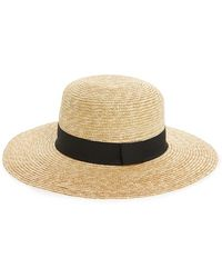 Phase 3 - Wide Brim Boater Hat - Lyst