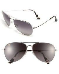 Maui Jim - Mavericks 61mm Polarizedplus2 Aviator Sunglasses - - Lyst