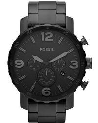 Fossil - 'nate' Chronograph Bracelet Watch - Lyst