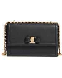 Ferragamo - Medium Ginny Leather Shoulder Bag - Lyst