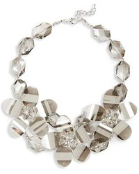 Natasha Couture - Crystal Flower Necklace - Lyst