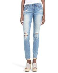 Blank - Distressed Skinny Jeans - Lyst