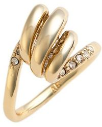 Alexis Bittar - 'miss Havisham' Crystal Encrusted Spiral Ring - Lyst