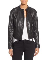 Rudsak | Zip Detail Leather Moto Jacket | Lyst