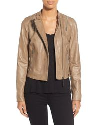 Rudsak - Zip Detail Leather Moto Jacket - Lyst