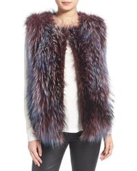 Tasha Tarno   Silver Fox and Goat-Fur Vest   Lyst