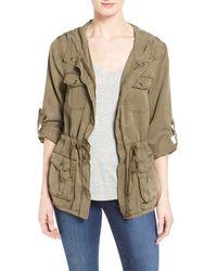 Dex - Hooded Military Jacket - Lyst
