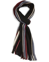 Calibrate - Mixed Stripe Wool Scarf - Lyst