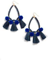 Nakamol - Babak Teardrop Tassel Earrings - Lyst