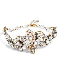 Halo | Crystal & Faux Pearl Bracelet | Lyst