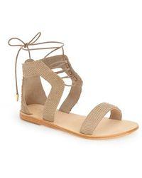 Urge - Sophia Lace-up Flat Sandals - Lyst
