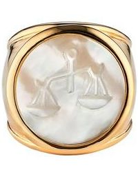 Asha | Zodiac Mother-of-pearl Ring | Lyst