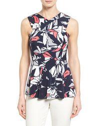 Ellen Tracy | Cross Front Knit Shell | Lyst