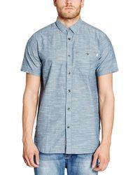 Bench - 'weightless' Regular Fit Short Sleeve Print Sport Shirt - Lyst