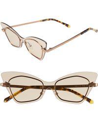 533b8e66224 Karen Walker Deep Orchard Rectangular Womens Sunglasses Tortoise Brown Frame