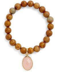 Elise M - 'mumbai' Wood Beaded Bracelet - Lyst