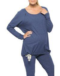 Amoralia - Maternity/nursing Zip Pajama Top & Leggings Set - Lyst