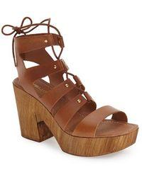 J/Slides - 'amelia' Platform Gladiator Sandal - Lyst