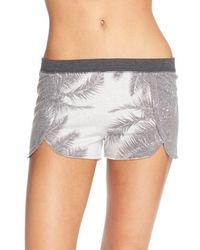 35mm - 35mm 'daisy' Palm Print Shorts - Lyst