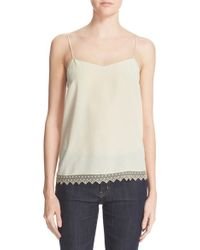 Zadig & Voltaire - 'camel' Lace Trim Silk Camisole - Lyst