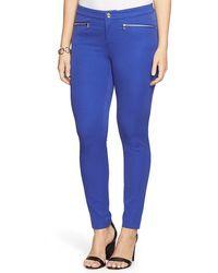Lauren by Ralph Lauren - Zip Pocket Ankle Skinny Pants - Lyst