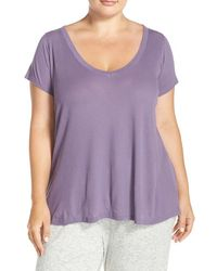 Yummie By Heather Thomson - Ribbed V-neck Tee - Lyst