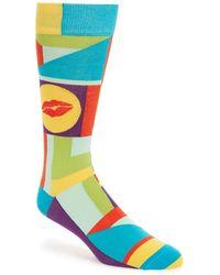 Di Pedarius - 'kiss Me Sugarpie' Socks - Lyst