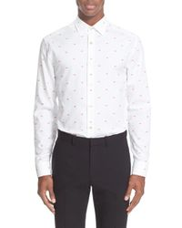 Paul Smith - 'lips' Trim Fit Jacquard Dress Shirt - Lyst