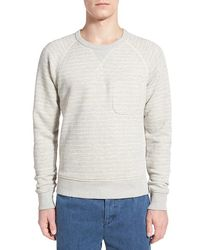 Outerknown - 'transit' Stripe Cotton Sweatshirt - Lyst