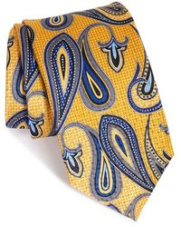 JZ Richards Paisley Silk Tie - Yellow