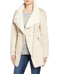 Jessica Simpson | Asymmetrical Faux Shearling Jacket | Lyst