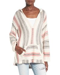 Billabong - 'island Baja' Hooded Pullover Sweater - Lyst