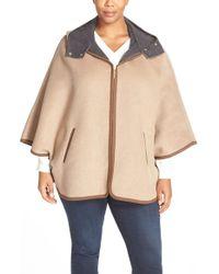 Ellen Tracy - Double Face Hooded Cape Coat - Lyst
