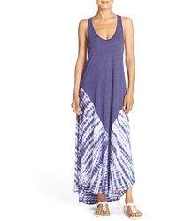 Spiritual Gangster | Sunset Tie Dye Cotton Maxi Dress | Lyst