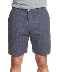 Descendant Of Thieves | 'star Burst' Reversible Print Woven Cotton Shorts | Lyst